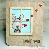 Happy Hoppy 4x6 Bunny Clear Stamp Set Gerda Steiner Designs