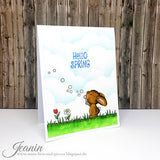Hello Spring 4x6 Clear Stamp Set Gerda Steiner Designs