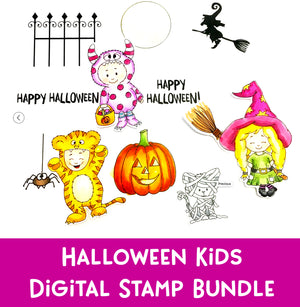 Halloween Kids Digital Stamp Bundle