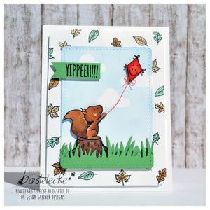 Happy Fall 4x6 Clear Stamp Set - Clearstamps - Clear Stamps - Cardmaking- Ideas- papercrafting- handmade - cards-  Papercrafts - Gerda Steiner Designs