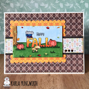 Happy Fall - Greeting Card Printable - Clearstamps - Clear Stamps - Cardmaking- Ideas- papercrafting- handmade - cards-  Papercrafts - Gerda Steiner Designs