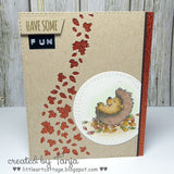 Cheerful Hedgehog 4x6 Clear Stamp Set Gerda Steiner Designs