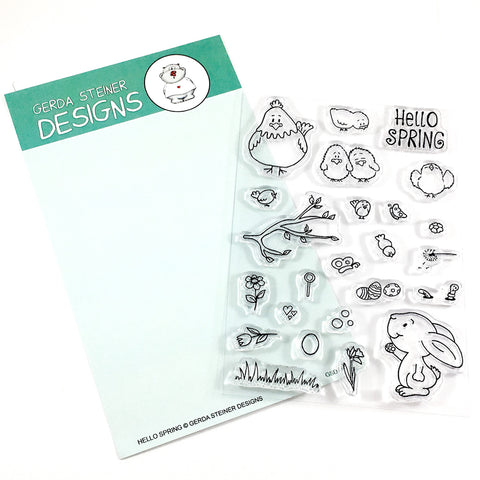 Hello Spring 4x6 Clear Stamp Set