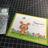 Nerdy Easter Bunny 3x4 Clear Stamp Set