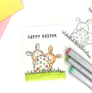 Easter Bunnies Digital Stamp - Clearstamps - Clear Stamps - Cardmaking- Ideas- papercrafting- handmade - cards-  Papercrafts - Gerda Steiner Designs