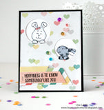 Hoppiness 4x6 Clear Stamp Set with Dies Gerda Steiner Designs Papercrafts