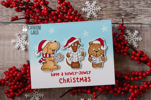 Carol Puppies 4x6 Clear Stamp Set - Clearstamps - Clear Stamps - Cardmaking- Ideas- papercrafting- handmade - cards-  Papercrafts - Gerda Steiner Designs