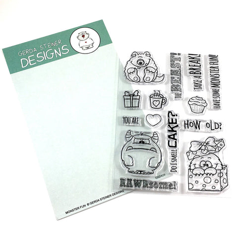 Monster Fun 4x6 Clear Stamp Set