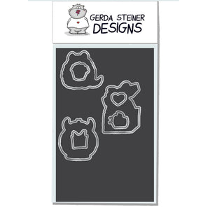 Monster Fun 4x6 Die Set - Clearstamps - Clear Stamps - Cardmaking- Ideas- papercrafting- handmade - cards-  Papercrafts - Gerda Steiner Designs