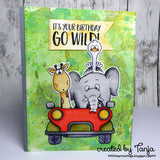 Go Wild! 4x6 Clear Stamp Set with Dies Gerda Steiner Designs