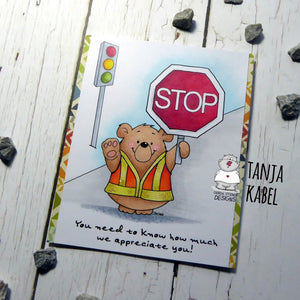 Crossing Guard - Free Printable - Clearstamps - Clear Stamps - Cardmaking- Ideas- papercrafting- handmade - cards-  Papercrafts - Gerda Steiner Designs