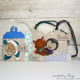 Peeking Friends 4x6 Clear Stamp Set - Clear Stamps - Papercrafts - Gerda Steiner Designs