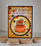 Pumpkin Kitten 3x4 Clear Stamp Set - Clear Stamps - Papercrafts - Gerda Steiner Designs