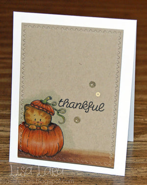 Peekin' Pumpkin Kitty 3x4 Clear Stamp Set - Clearstamps - Clear Stamps - Cardmaking- Ideas- papercrafting- handmade - cards-  Papercrafts - Gerda Steiner Designs