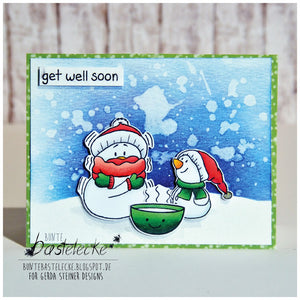 Snowman Friends 4x6 Clear Stamp Set - Clearstamps - Clear Stamps - Cardmaking- Ideas- papercrafting- handmade - cards-  Papercrafts - Gerda Steiner Designs