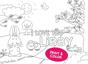 I love you Libby - Printable - Clearstamps - Clear Stamps - Cardmaking- Ideas- papercrafting- handmade - cards-  Papercrafts - Gerda Steiner Designs