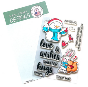 Sending Hugs 4x6 Clear Stamp Set