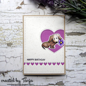 Dachshunds 4x6 Clear Stamp Set - Clearstamps - Clear Stamps - Cardmaking- Ideas- papercrafting- handmade - cards-  Papercrafts - Gerda Steiner Designs