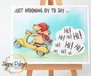 Vrooming By! 3x4 Clear Stamp Set - Clearstamps - Clear Stamps - Cardmaking- Ideas- papercrafting- handmade - cards-  Papercrafts - Gerda Steiner Designs
