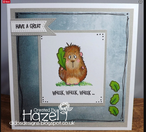 Wheek, wheek, wheek... Guinea Pig 4x6 Clear Stamp Set - Clearstamps - Clear Stamps - Cardmaking- Ideas- papercrafting- handmade - cards-  Papercrafts - Gerda Steiner Designs