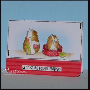"Wheek, wheek, wheek ""Lettuce Be Friends Forever"" 4x6 Stamp Set"