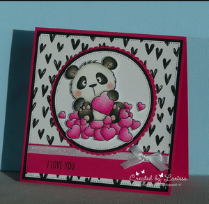 Panda in Love - Digital Stamp - Clearstamps - Clear Stamps - Cardmaking- Ideas- papercrafting- handmade - cards-  Papercrafts - Gerda Steiner Designs