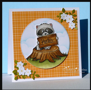 Racoon - Digital Stamp - Clearstamps - Clear Stamps - Cardmaking- Ideas- papercrafting- handmade - cards-  Papercrafts - Gerda Steiner Designs