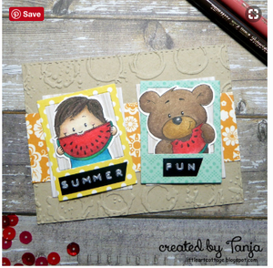 You are Beary Sweet! - Bear with Watermelon - Digital Stamp - Clearstamps - Clear Stamps - Cardmaking- Ideas- papercrafting- handmade - cards-  Papercrafts - Gerda Steiner Designs