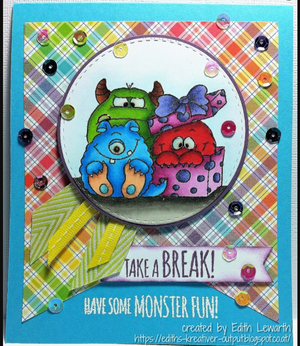 Monster Fun 4x6 Clear Stamp Set - Clearstamps - Clear Stamps - Cardmaking- Ideas- papercrafting- handmade - cards-  Papercrafts - Gerda Steiner Designs