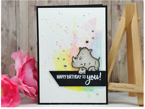Party Animals 4x6 Clear Stamp Set - Clearstamps - Clear Stamps - Cardmaking- Ideas- papercrafting- handmade - cards-  Papercrafts - Gerda Steiner Designs