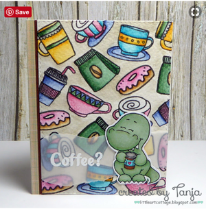 Coffeesaurus 3x4 Stamp Set