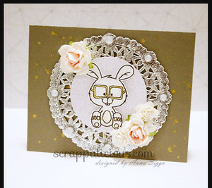 Nerdy Easter Bunny 3x4 Clear Stamp Set - Clearstamps - Clear Stamps - Cardmaking- Ideas- papercrafting- handmade - cards-  Papercrafts - Gerda Steiner Designs