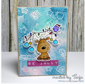 Little Christmas Reindeer 3x4 Clear Stamp Set - Clearstamps - Clear Stamps - Cardmaking- Ideas- papercrafting- handmade - cards-  Papercrafts - Gerda Steiner Designs