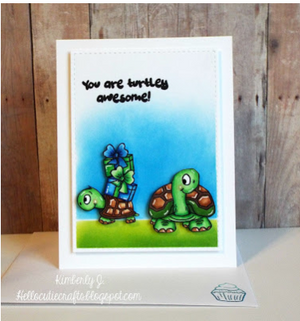 Turtley Great 4x6 Clear Stamp Set - Clearstamps - Clear Stamps - Cardmaking- Ideas- papercrafting- handmade - cards-  Papercrafts - Gerda Steiner Designs