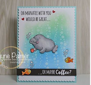 Oh Manatee 4x6 Clear Stamp Set - Clearstamps - Clear Stamps - Cardmaking- Ideas- papercrafting- handmade - cards-  Papercrafts - Gerda Steiner Designs