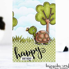 Hello Friend Turtle - Digital Stamp - Clearstamps - Clear Stamps - Cardmaking- Ideas- papercrafting- handmade - cards-  Papercrafts - Gerda Steiner Designs