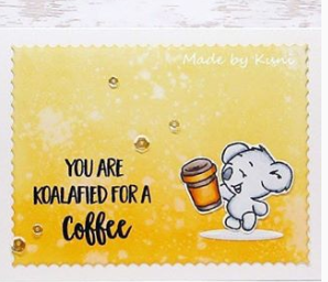 You're Koalafied 4x6 Clear Stamp Set - Clearstamps - Clear Stamps - Cardmaking- Ideas- papercrafting- handmade - cards-  Papercrafts - Gerda Steiner Designs