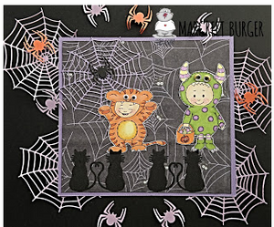 Halloween Kids Digital Stamp Bundle - Clearstamps - Clear Stamps - Cardmaking- Ideas- papercrafting- handmade - cards-  Papercrafts - Gerda Steiner Designs