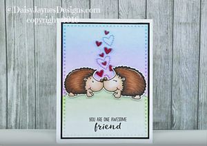 Hedgehog Smooches - Digital Stamp - Clearstamps - Clear Stamps - Cardmaking- Ideas- papercrafting- handmade - cards-  Papercrafts - Gerda Steiner Designs