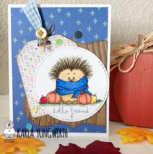 Cold Hedgehog - Digital Stamp - Clearstamps - Clear Stamps - Cardmaking- Ideas- papercrafting- handmade - cards-  Papercrafts - Gerda Steiner Designs