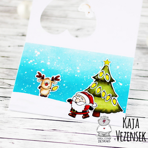 Reindeer and a Tree 4x6 Clear Stamp Set - Clearstamps - Clear Stamps - Cardmaking- Ideas- papercrafting- handmade - cards-  Papercrafts - Gerda Steiner Designs