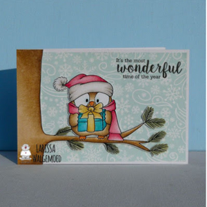 Santa Owl - Clearstamps - Clear Stamps - Cardmaking- Ideas- papercrafting- handmade - cards-  Papercrafts - Gerda Steiner Designs