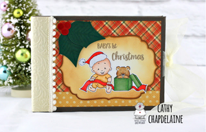 Baby Boy Christmas 3x4 Clear Stamp Set - Clearstamps - Clear Stamps - Cardmaking- Ideas- papercrafting- handmade - cards-  Papercrafts - Gerda Steiner Designs