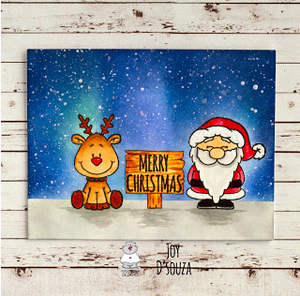 Holiday Friends 4x6 Clear Stamp Set