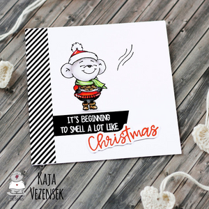 Smell like Christmas 4x6 Clear Stamp Set - Clearstamps - Clear Stamps - Cardmaking- Ideas- papercrafting- handmade - cards-  Papercrafts - Gerda Steiner Designs