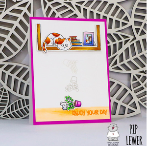 On the Bookshelf 4x6 Clear Stamp Set - Clearstamps - Clear Stamps - Cardmaking- Ideas- papercrafting- handmade - cards-  Papercrafts - Gerda Steiner Designs