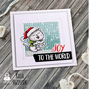 Carol Kitten 4x6 Clear Stamp Set - Clearstamps - Clear Stamps - Cardmaking- Ideas- papercrafting- handmade - cards-  Papercrafts - Gerda Steiner Designs