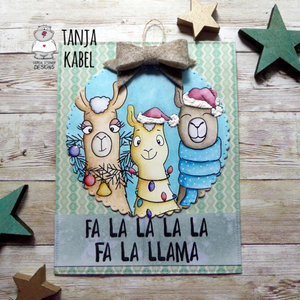 Fa -la-la-la-Llamas - Clearstamps - Clear Stamps - Cardmaking- Ideas- papercrafting- handmade - cards-  Papercrafts - Gerda Steiner Designs