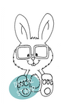Nerdy but nice - Cute nerdy bunny with glasses. - Clearstamps - Papercrafts - Gerda Steiner Designs