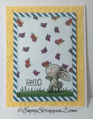 Hello Spring 4x6 Clear Stamp Set - Clearstamps - Clear Stamps - Cardmaking- Ideas- papercrafting- handmade - cards-  Papercrafts - Gerda Steiner Designs
